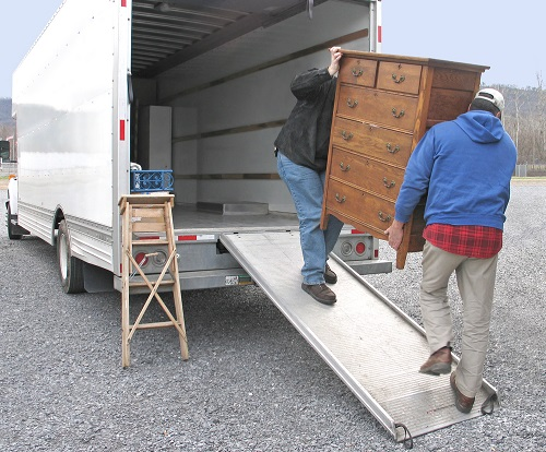 moving items on truck