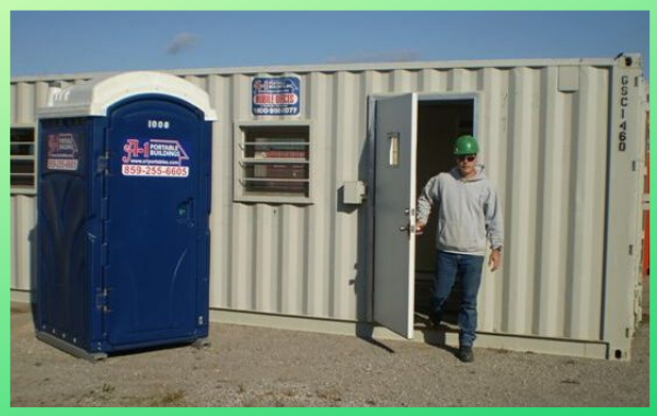 portable office renting a storage container