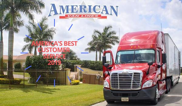 American moving companies van