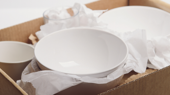 Pack Dishes When Moving