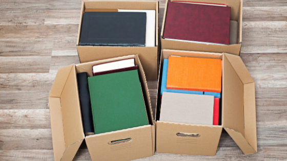 choose boxes for move books